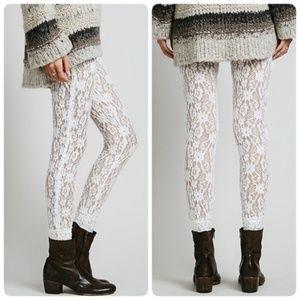 Free People Intimately Ivory Lace Leggings